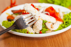 Salad seafood Royalty Free Stock Image