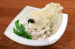 Salad seafoods. Italian cuisine.european salad seafoods Stock Photo
