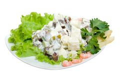 Salad seafoods.tunec Stock Photography