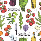 Salad seamless background Stock Photos