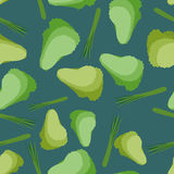 Salad seamless pattern. Background  vegetable lettuce Royalty Free Stock Image