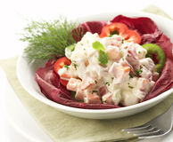 Salad served on a bowl royalty free stock photo