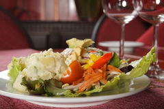 Salad served on a plate Royalty Free Stock Photo