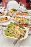 Salad on served table Royalty Free Stock Image