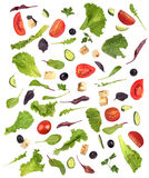 Salad Set with ingredients Royalty Free Stock Photo