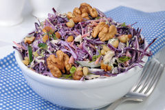 Salad of shredded  cabbage Royalty Free Stock Image