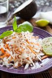 Salad of shredded carrots and radishes Stock Image