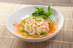 Salad of shrimp Stock Photo