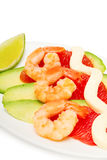 Salad with shrimp Stock Photos