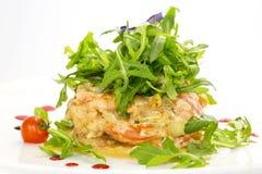 Salad with shrimp and arugula Royalty Free Stock Image