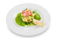 Salad with shrimp and avocado Royalty Free Stock Image