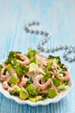 Salad with shrimp and avocado Royalty Free Stock Photography