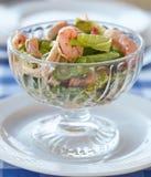 Salad with shrimp and avocado Stock Image