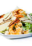 Salad with shrimp and avocado. Royalty Free Stock Image