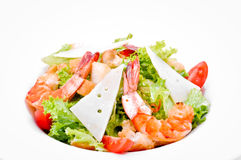 Salad with shrimp and cheese Stock Photos