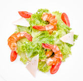 Salad with shrimp and cheese Stock Photo