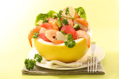 Salad with shrimp Royalty Free Stock Images