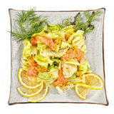 Salad with shrimp Royalty Free Stock Photos