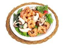 Salad with shrimp royalty free stock photos