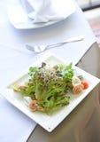 Salad of shrimp. On plate Stock Photo