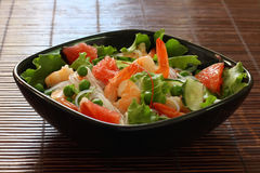 Salad with shrimp,rice noodles and vegetables Royalty Free Stock Images