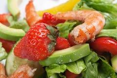 Salad of shrimp Stock Image