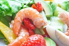 Salad of shrimp Royalty Free Stock Photo
