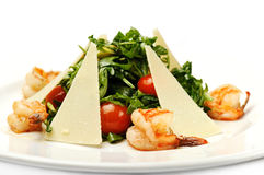 Salad with shrimps Stock Photography