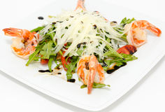 Salad with shrimps Stock Photos