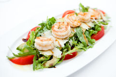 Salad with shrimps Royalty Free Stock Photo