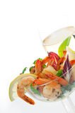 Salad of shrimps Stock Photography