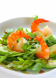 Salad with shrimps and avocado Stock Image