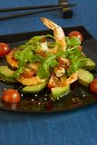 Salad from shrimps and avocado. Salad from shrimps, avocado and tomatoes Stock Image