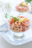 Salad from shrimps, avocado and cherry tomatoes Stock Image