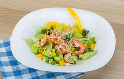 Salad with shrimps and avocado Royalty Free Stock Image