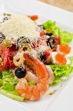 Tasty seafood salad Royalty Free Stock Photo