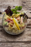 Salad with shrimps, sea breeze Royalty Free Stock Photography
