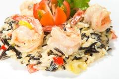 Salad with shrimps Stock Photos
