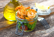 Salad with shrimps Royalty Free Stock Photography