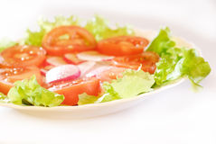 Salad_side Ansicht Stockfoto