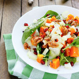 Salad with slices of baked pumpkin Royalty Free Stock Photography