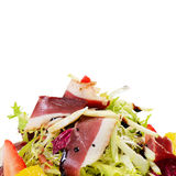 Salad with smoked duck breast Stock Images