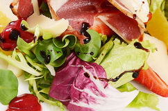 Salad with smoked duck breast Royalty Free Stock Photo