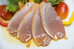 Salad with smoked duck Royalty Free Stock Photos