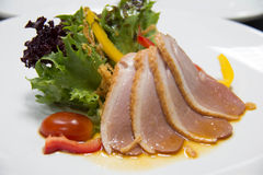 Salad with smoked duck Stock Photo