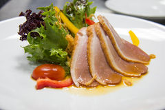 Salad with smoked duck Royalty Free Stock Images