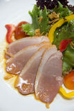 Salad with smoked duck Stock Photography