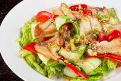 Salad of smoked eel Royalty Free Stock Photography