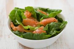 Salad with smoked fish Royalty Free Stock Image