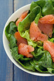 Salad with smoked fish Royalty Free Stock Photo